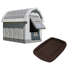 ASL Solutions Grey Insulated Dog Palace & Bed Combo