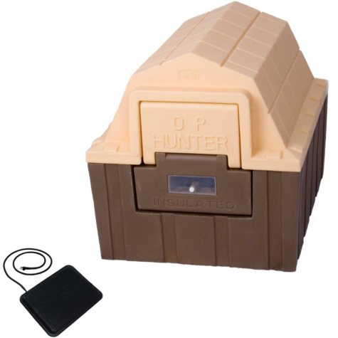 "ASL Solutions Insulated DP Hunter Dog House With Floor Heater, Choose Your Color (26""W x 29""L x 23.5""H)"