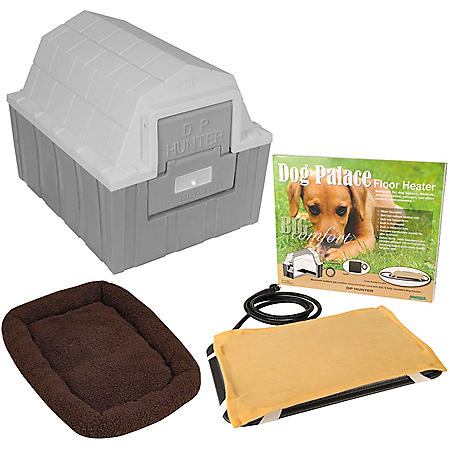 "ASL Solutions Insulated DP Hunter Dog House with Heating Pad and Bed (23""W x 29""L x 23.5""H)"