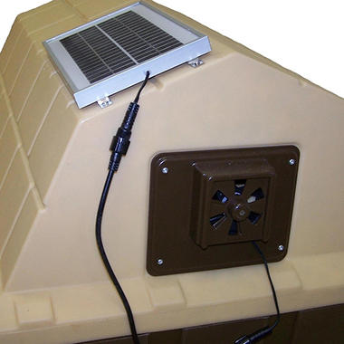 ASL Solutions Dog House Solar Powered Exhaust Fan (Choose Your Size)