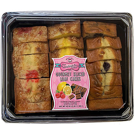 Mrs. Wonderful's Cakes Gourmet Sliced Loaf Cakes (21 ct.)