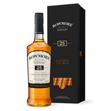 Bowmore 25 Years Old Scotch Whisky (750 ml)
