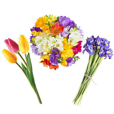 Spring Flowers, Assorted (60 stems)