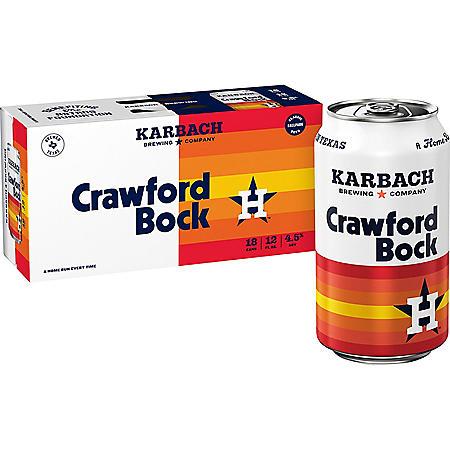 Karbach Crawford Bock Beer (12 fl. oz. can, 18 pk.)
