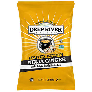 Deep River Snacks Ninja Ginger Kettle Chips (22 oz.)