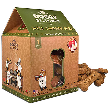 Doggy Delirious Apple Cinnamon Bones (6 - 16 oz. packs)