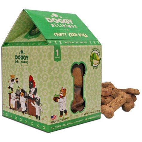 Doggy Delirious Minty Pear Bones (6 - 16 oz. Packs)