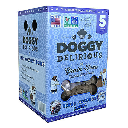 Wet Noses Doggy Delirious Dog Treats, Berry Coconut (5 lbs.)