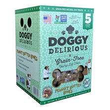 Wet Noses Doggy Delirious Dog Treats, Peanut Butter (5 lbs.)