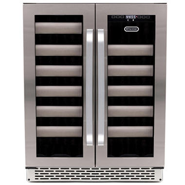 Whynter Elite 40-Bottle Dual Zone Built-in Wine Cellar, Stainless Steel