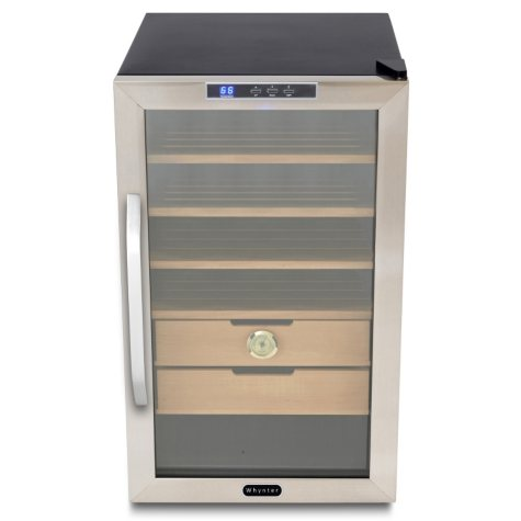 Whynter 2.5 cu. ft. Cigar Cooler Humidor, Stainless Steel