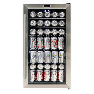 Whynter Beverage 120-Can Refrigerator, Stainless Steel