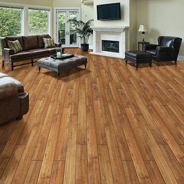 Select Surfaces Click Laminate Flooring, Amber