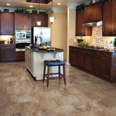 Select Surfaces Mountain Slate Click Luxury Vinyl Tile Flooring   4 Boxes