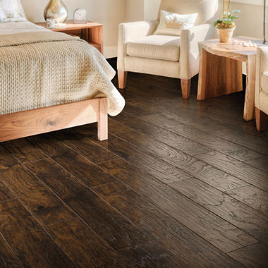 Select surfaces woodland hickory laminate flooring sam 39 s for Flooring surfaces