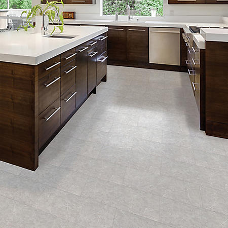 Select Surfaces Gray Marble Engineered Vinyl Tile Flooring – 4 Boxes