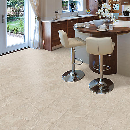 Select Surfaces Light Topaz Engineered Vinyl Tile Flooring – 4 Boxes