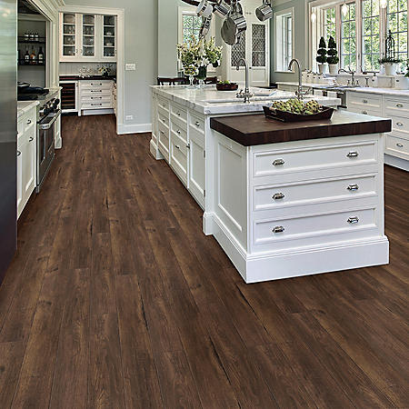 Select Surfaces Chocolate Oak Engineered Vinyl Plank Flooring (4 Boxes)