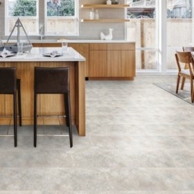 Select Surfaces Graystone Engineered Vinyl Tile Flooring