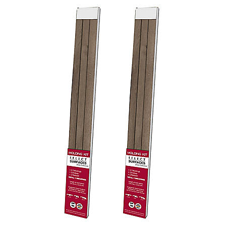 Select Surfaces Warm Gray Molding Kit (2 Pk.)