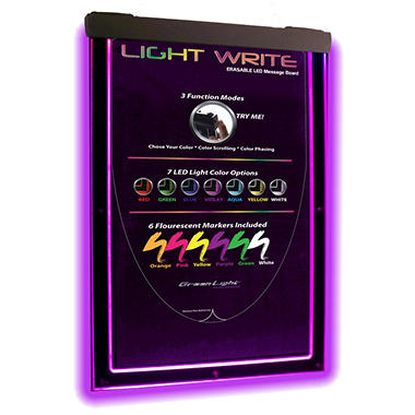 Light Write Erasable LED Message Board