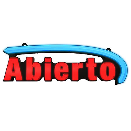 LED Multi-Colored Abierto Sign