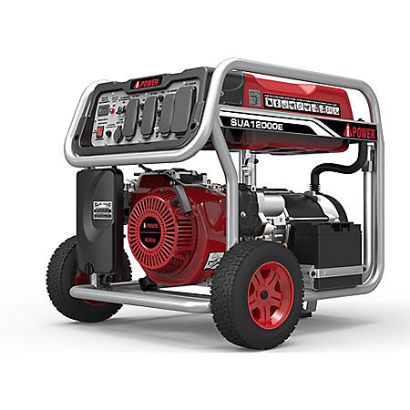 A-iPower 9,000 / 12,000 Watt Gasoline Powered Generator with Electric Start