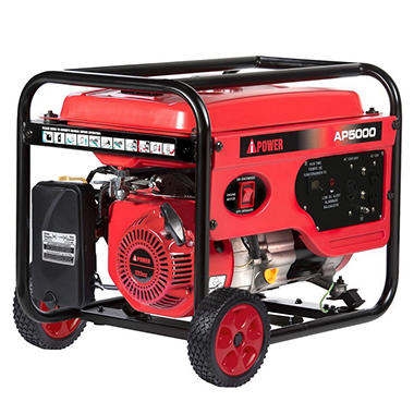 a ipower 4 000 5 000 watt gasoline powered generator with manual