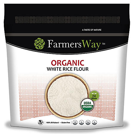 Farmers Way Organic White Rice Flour (24 oz.)