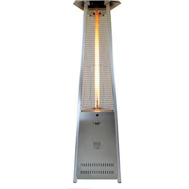 Lava Heat Italia Lava Lite Liquid Propane Gas Patio Heater, Stainless Steel  Finish