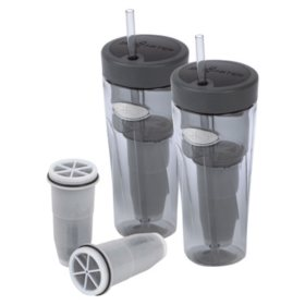 ZeroWater On-The-Go Filtered Tumblers 2-Pack and Bonus Filters