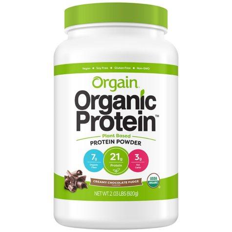 Orgain Organic Protein Plant Based Protein Powder Creamy Chocolate Fudge (2.03 lbs.)