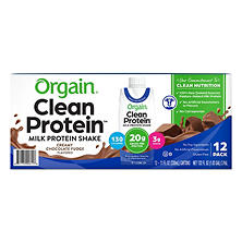 Orgain Grass Fed Protein Shake, Creamy Chocolate Fudge (12 ct.)