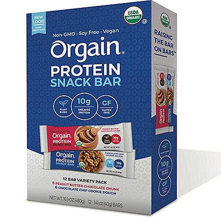 Orgain Organic Protein Bar (12 ct.)