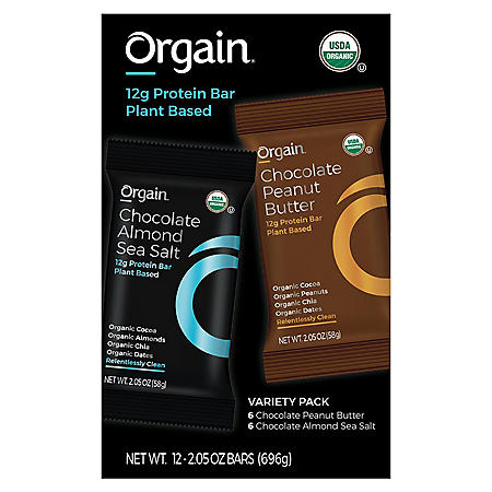 Orgain® Organic Protein™ Plant Based Protein Bar Variety Pack (12 ct.)