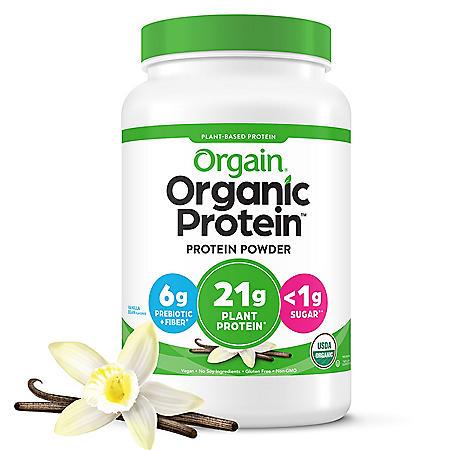 Orgain® Organic Protein™ Plant Based Powder Vanilla Bean (2.74 lbs.)