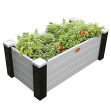 Black/Gray Maintenance-Free Elevated Garden Bed (Various Sizes)