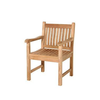 Grade a piemonte teak armchair sam 39 s club for Teak outdoor furniture