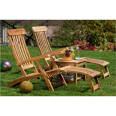 Ocean Deck Chairs and Side Table Set