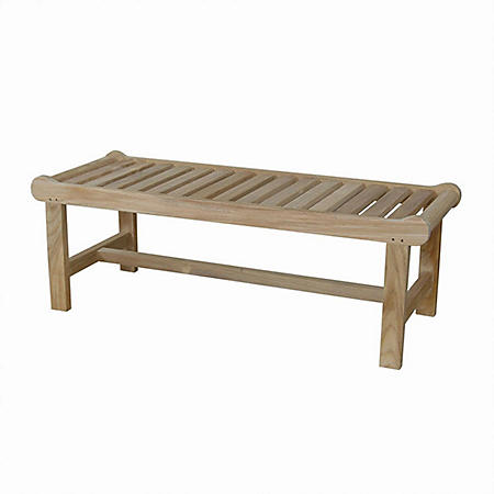 "Grade-A Teak 48"" Capri Bench"