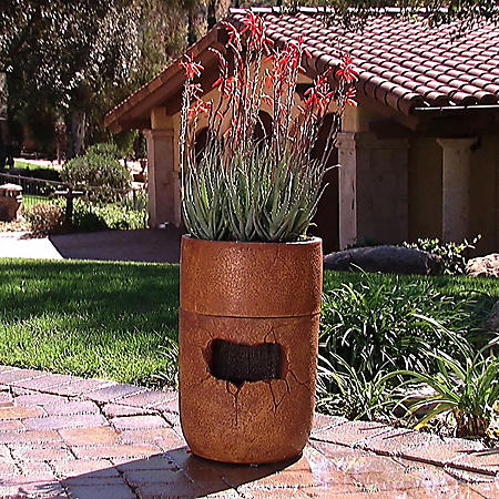 Rainshower Fountain and Self-Watering Planter - Terracotta