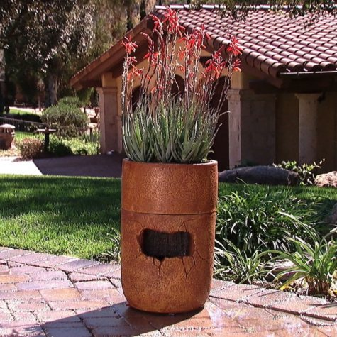Rainshower Fountain and Self-Watering Planter - Terracotta