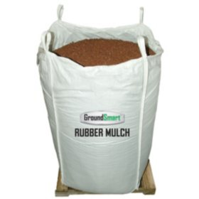 GroundSmart Rubber Mulch Cedar Red 76.9 cu ft Super Sack (Assorted Sizes)