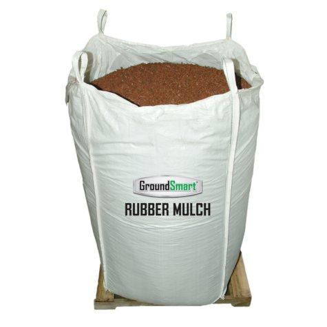 GroundSmart Rubber Mulch Cedar Red 38.5 cuft SuperSack
