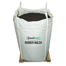 GroundSmart Rubber Mulch - Espresso Black 76.9 cubic feet (SuperSack)
