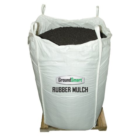 GroundSmart Rubber Mulch Espresso Black 76.9 cu ft Super Sack (Assorted Sizes)