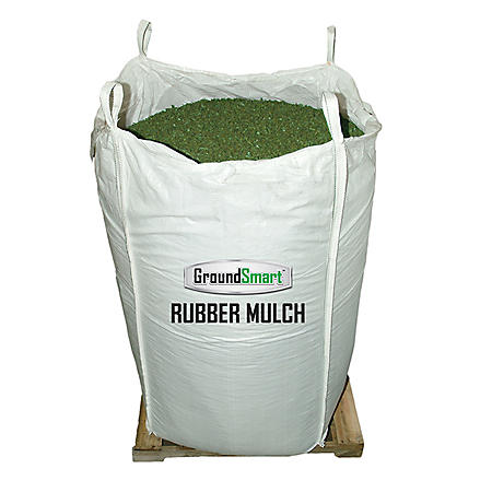 GroundSmart Rubber Mulch Green 76.9 cu ft Super Sack (Assorted Sizes)