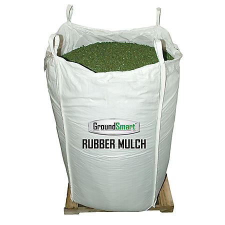 GroundSmart Rubber Mulch Green 38.5 cuft SuperSack