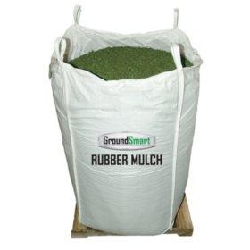 GroundSmart Rubber Mulch Green 38.5 cuft SuperSack