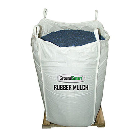GroundSmart Rubber Mulch Blue 76.9 cu ft Super Sack (Assorted Sizes)
